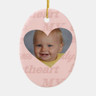 Daddys Girl Babys First Christmas Personalized Ceramic Ornament