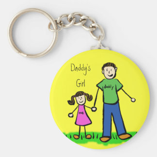 Daddy's Girl Brunette Keychain (Customize)