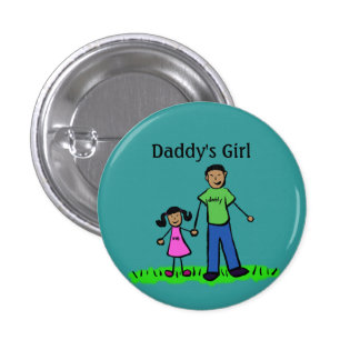 Daddy's Girl Buttons Custom Family Pendant Pins
