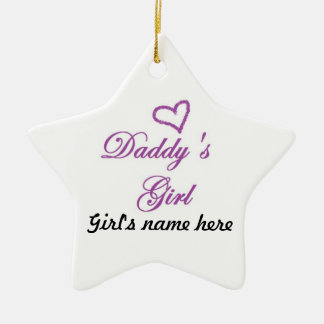 Daddys Girl Double-Sided Star Ceramic Christmas Ornament