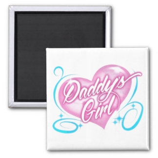 Daddy's Girl Square Magnet
