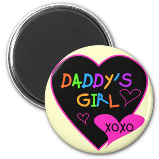 Daddy's Girl T Shirts, Mugs, Pillows, Stationary 6 Cm Round Magnet