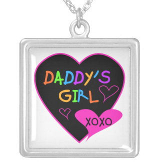 Daddy's Girl T Shirts, Mugs, Pillows, Stationary Silver Plated Necklace