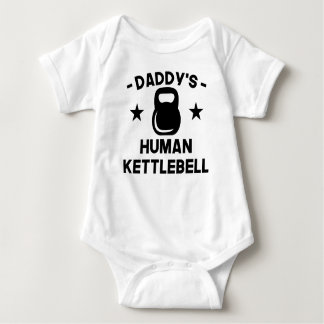Daddy's Human Kettlebell Baby Bodysuit
