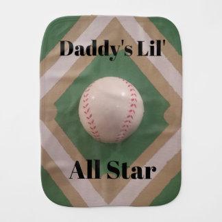 Daddy's Lil' All Star burp cloth
