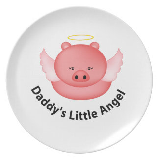 daddys little angel dinner plates