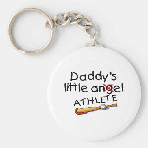 Daddy's Little Athlete Keychain