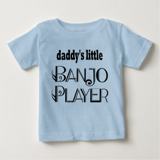 Daddy's Little Banjo Player Baby T-shirt