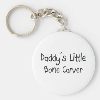 Daddy's Little Bone Carver Basic Round Button Key Ring