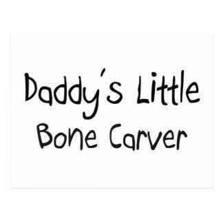 Daddy's Little Bone Carver Postcard