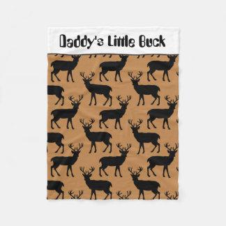 Daddy's little buck baby boy blanket
