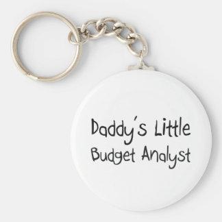 Daddy's Little Budget Analyst Keychain