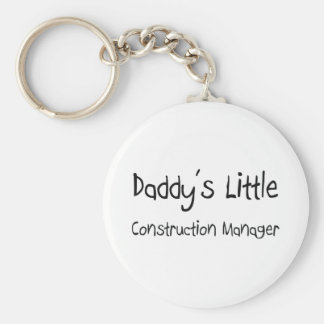 Daddy's Little Construction Manager Basic Round Button Key Ring