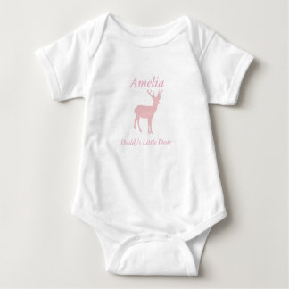 Daddy's Little Dear Baby Girl Deer Outfit Baby Bodysuit