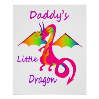 Daddy's Little Dragon Poster