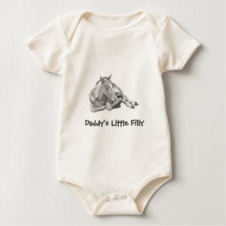 DADDY'S LITTLE FILLY: PENCIL ART BABY BODYSUIT