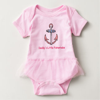 Daddy's Little Fisherbabe Tutu Outfit Baby Bodysuit