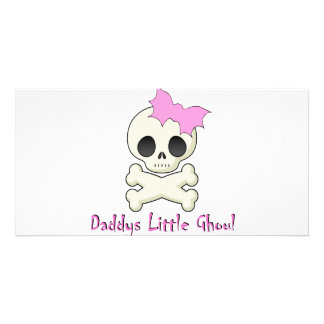 Daddy's little Ghoul Chiller Font Personalised Photo Card