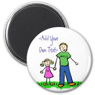 Daddy's Little Girl Custom Magnet (Blond)