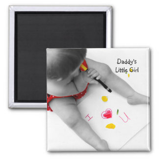 Daddys Little Girl I Love You Dad I Heart U Square Magnet
