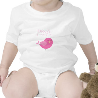Daddy's Little Girl Pink Birdie Tag Baby Creeper