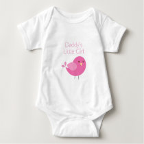 Daddy's Little Girl Pink Birdie Tag Tshirt