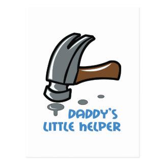 DADDYS LITTLE HELPER POSTCARD