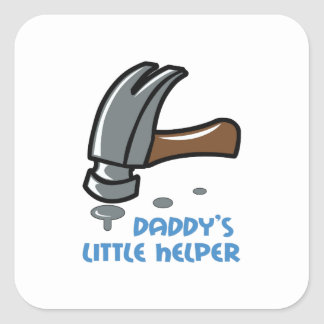 DADDYS LITTLE HELPER SQUARE STICKERS