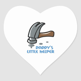 DADDYS LITTLE HELPER HEART STICKER