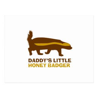 Daddy's Little Honey Badger Postcard