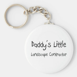 Daddy's Little Landscape Contractor Basic Round Button Key Ring