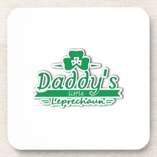 Daddy's Little Leprechaun St Patricks Day Kids Coaster
