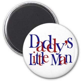 Daddy's little man 6 cm round magnet