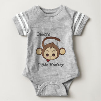 Daddy's Little Monkey Baby Bodysuit