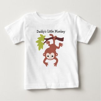 Daddy's Little Monkey Baby T-Shirt