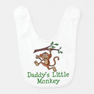 Daddy's Little Monkey Cartoon Bib