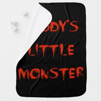 Daddy's Little Monster Blanket Receiving Blanket