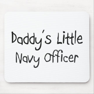 Daddy's Little Navy Officer Mouse Pad