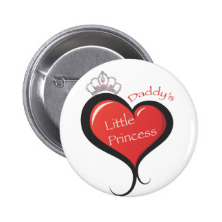 Daddy's Little Princess 6 Cm Round Badge
