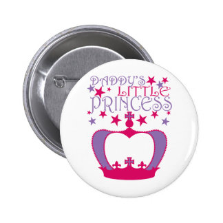 Daddys Little Princess 6 Cm Round Badge