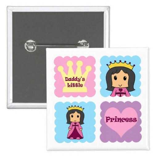 Daddy's Little Princess Pins