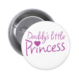 Daddys little princess pinback button