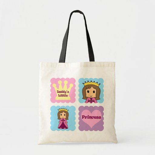 Daddy's Little Princess Canvas Bags