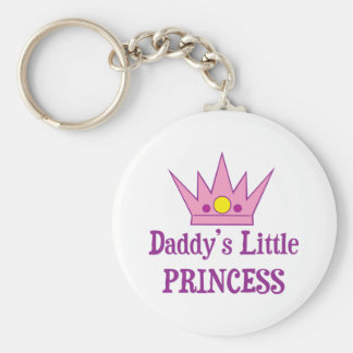 Daddys Little Princess Basic Round Button Key Ring
