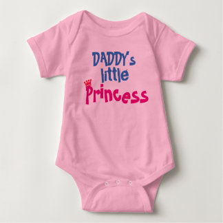 daddy's little princess cute baby bodysuit design