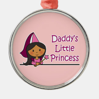 Daddy's Little Princess Silver-Colored Round Decoration