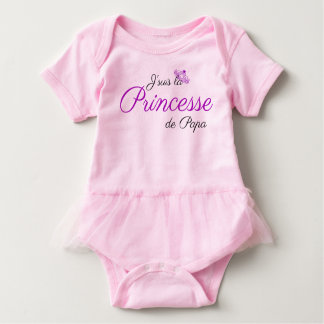 Daddy's Little Princess French Tutu Baby Bodysuit