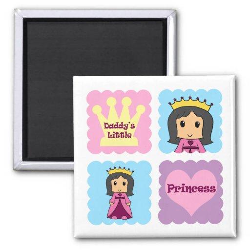 Daddy's Little Princess Fridge Magnets