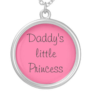 Daddy's little Princess Round Pendant Necklace