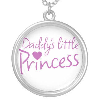 Daddys little princess silver plated necklace